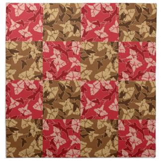 Rot und Brown-Herbstfarben-Herbst-Blumenmuster Serviette