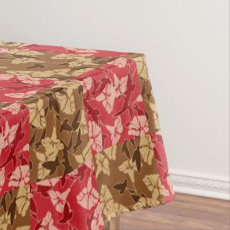 Rot und Brown-Herbstfarben-Herbst-Blumentischdecke Tischdecke
