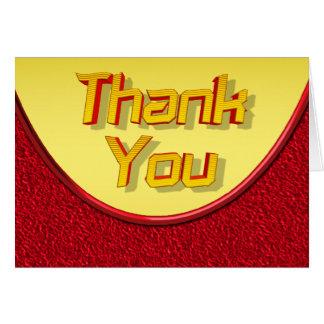 Rot und Gelb danken Ihnen zu kardieren Karte