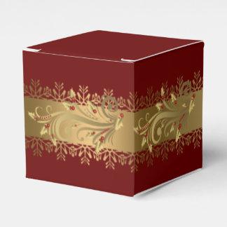 Rot und Goldstechpalmen-UnternehmensFeriengeschenk Geschenkschachteln