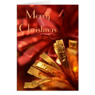 Rot und Goldweihnachtskarte Karte