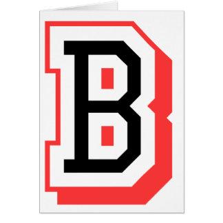 Rot und gotische Schrift B Grußkarte