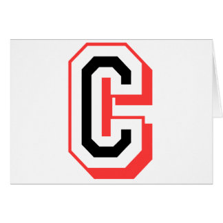 Rot und gotische Schrift C Grußkarte