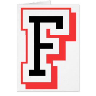 Rot und gotische Schrift F Grußkarte