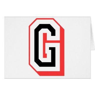 Rot und gotische Schrift G Grußkarte