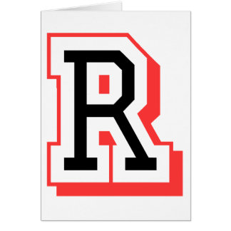 Rot und gotische Schrift R Grußkarte
