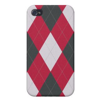 Rot und Grau gestrickter Art-Raute Iphone Kasten Etui Fürs iPhone 4