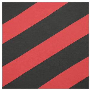 Rot und schwarz gestreiftes Muster Stoff