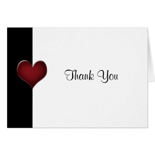 Rot und Schwarzes danken Ihnen zu kardieren Grußkarte