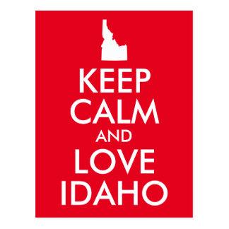 Rot und Weiß behält Ruhe und Liebe Idaho Postkarte