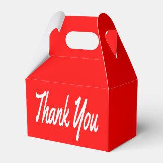 Rot und Weiß dankt Ihnen Hochzeit/Gastgeschenk Geschenkschachteln