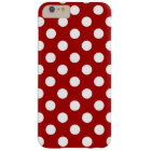 Rot und Weiß Polka Dot Muster, Super Süß, Modern Barely There iPhone 6 Plus Hülle