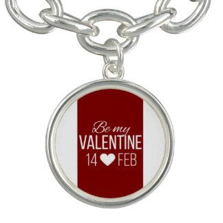 Rot und Weiß seien Sie mein Valentinsgruß-Herz Armband