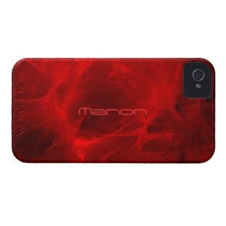 Rot Veined iPhone 4 Abdeckung für Manon iPhone 4 Case-Mate Hülle