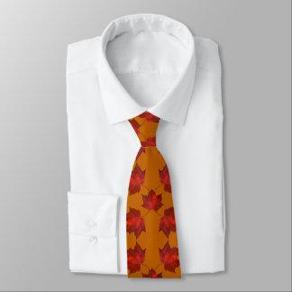 Rot verlässt orange Herbst-Krawatte Krawatte