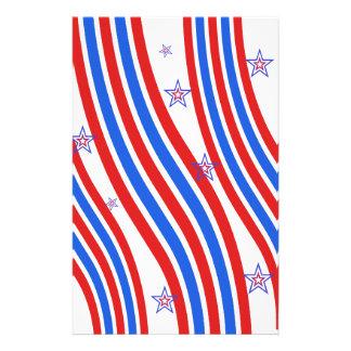 Rot, weiß, blau, Streifen und Sterne Flyer