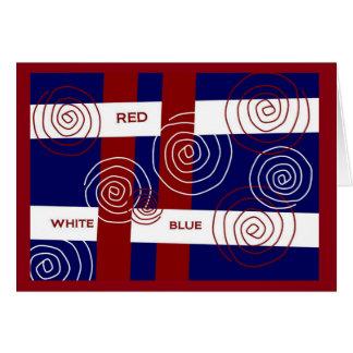 Rot, weiß u. Blau - stolz auf Sie! Grußkarte