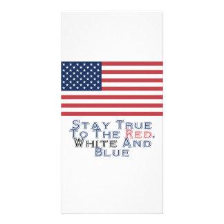 Rot, Weiß und Blau Photokarte