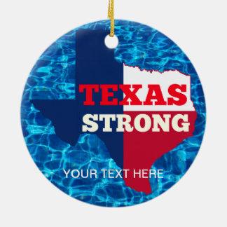 """Rot-, weißes u. Blaues""""Texas stark """" Keramik Ornament"""