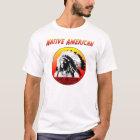 Rot-Wolke des Ureinwohner-w/Chief T-Shirt