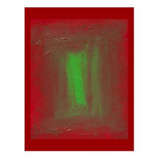 Rot, zum von Ehrerbietung Josefs Albers zu grünen Postkarte