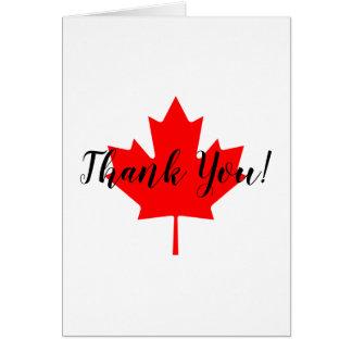 Rotahorn-Blatt danken Ihnen Karte