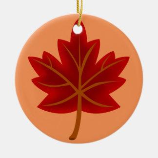 Rotahorn-Blatt Keramik Ornament