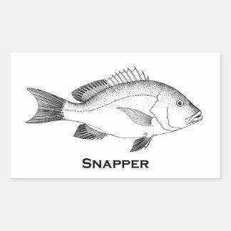 Rotbarsch-Fische Rechteckiger Aufkleber