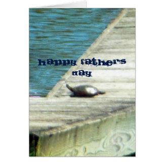 Rotbarsch-Schildkröte-glücklicher Vatertag Grußkarte