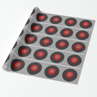 Rote alte Schulvinylaufzeichnung Geschenkpapier
