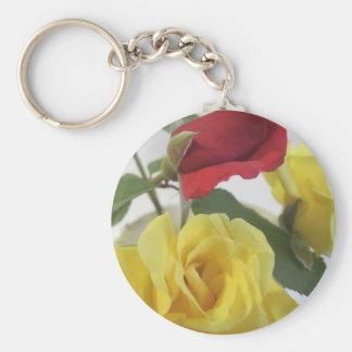 Rote amd Gelb-Rosen Schlüsselanhänger