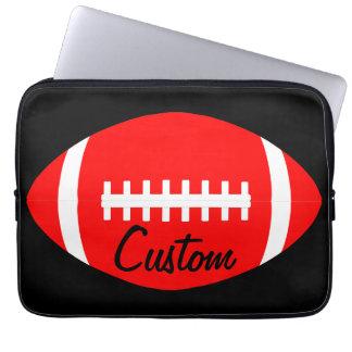 Rote amerikanischer Fußball-Spieler-, Trainer-oder Laptopschutzhülle