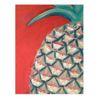 Rote Ananas Postkarte