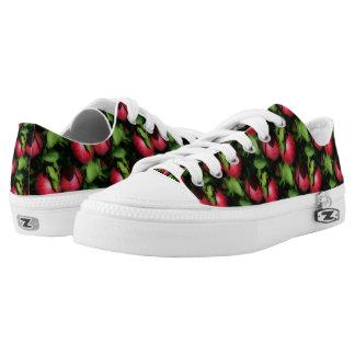 Rote Äpfel auf Baum-Natur-Muster Niedrig-geschnittene Sneaker