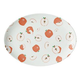 Rote Äpfel, größer Porzellan Servierplatte