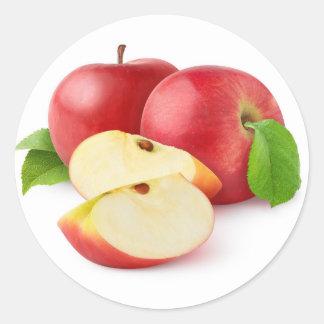Rote Äpfel Runder Aufkleber