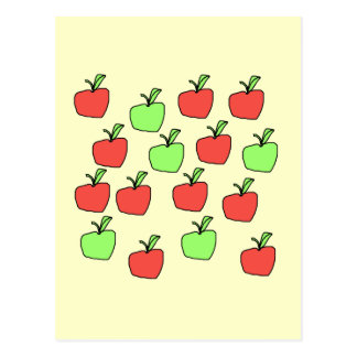 Rote Äpfel und grüne Äpfel, Muster Postkarte