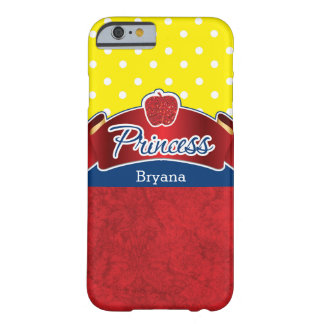 Rote Apple-Glitzer-Prinzessin Blue Yellow Phone Barely There iPhone 6 Hülle