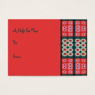 Rote aquamarine Geschenk-Umbauten Visitenkarte