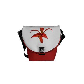 Rote aztekische Lilien-Lilien-Blume Kurier Tasche