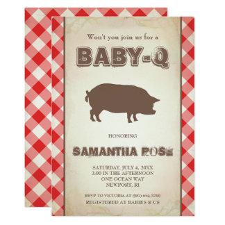 Rote BabyQ Baby-Dusche, GRILLEN Baby Q laden ein 12,7 X 17,8 Cm Einladungskarte