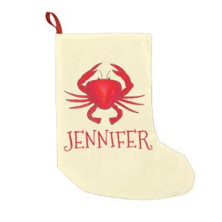 Rote Baltimore-Krabben-personalisierter Kleiner Weihnachtsstrumpf