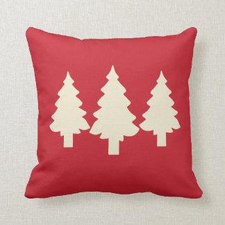 Rote Bäume des Waldes Kissen