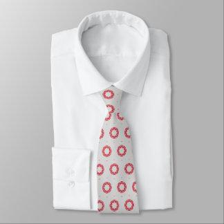 Rote Blume auf Grau Individuelle Krawatten
