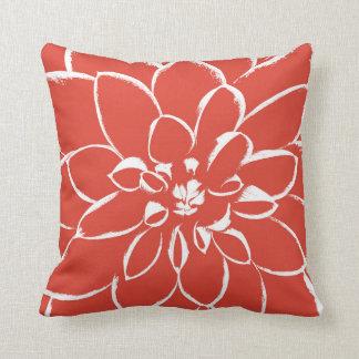 Rote Blume der Dahlie-Fiesta-| Kissen
