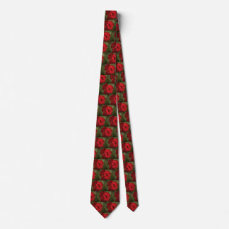 Rote Blumen-Hals-Krawatte Bedruckte Krawatte