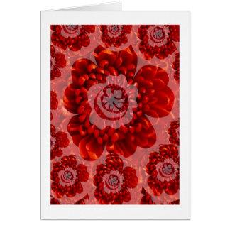Rote Blumen-Reise - Fantasie-Anbetungs-Welt Grußkarte