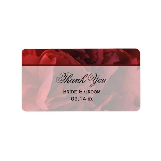 Rote Blumenhochzeit danken Ihnen, Umbauten zu Adressaufkleber