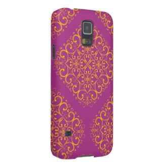 rote Blumenverzierungs-Samsungs-Galaxie 5 Samsung Galaxy S5 Hülle