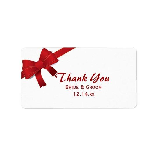 Rote Bogen-Winter-Hochzeit danken Ihnen, Umbauten Adressaufkleber